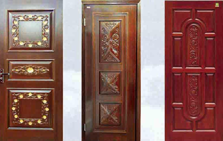 3 MDF interior doors