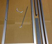 Aluminium interior door before installation