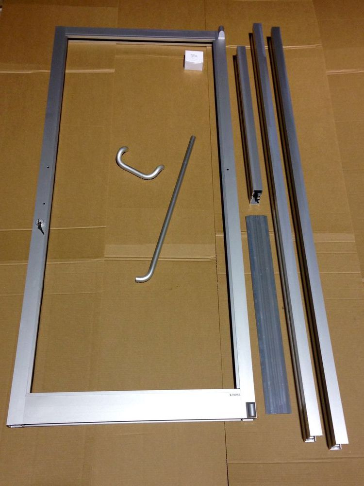 Aluminium interior door before installation