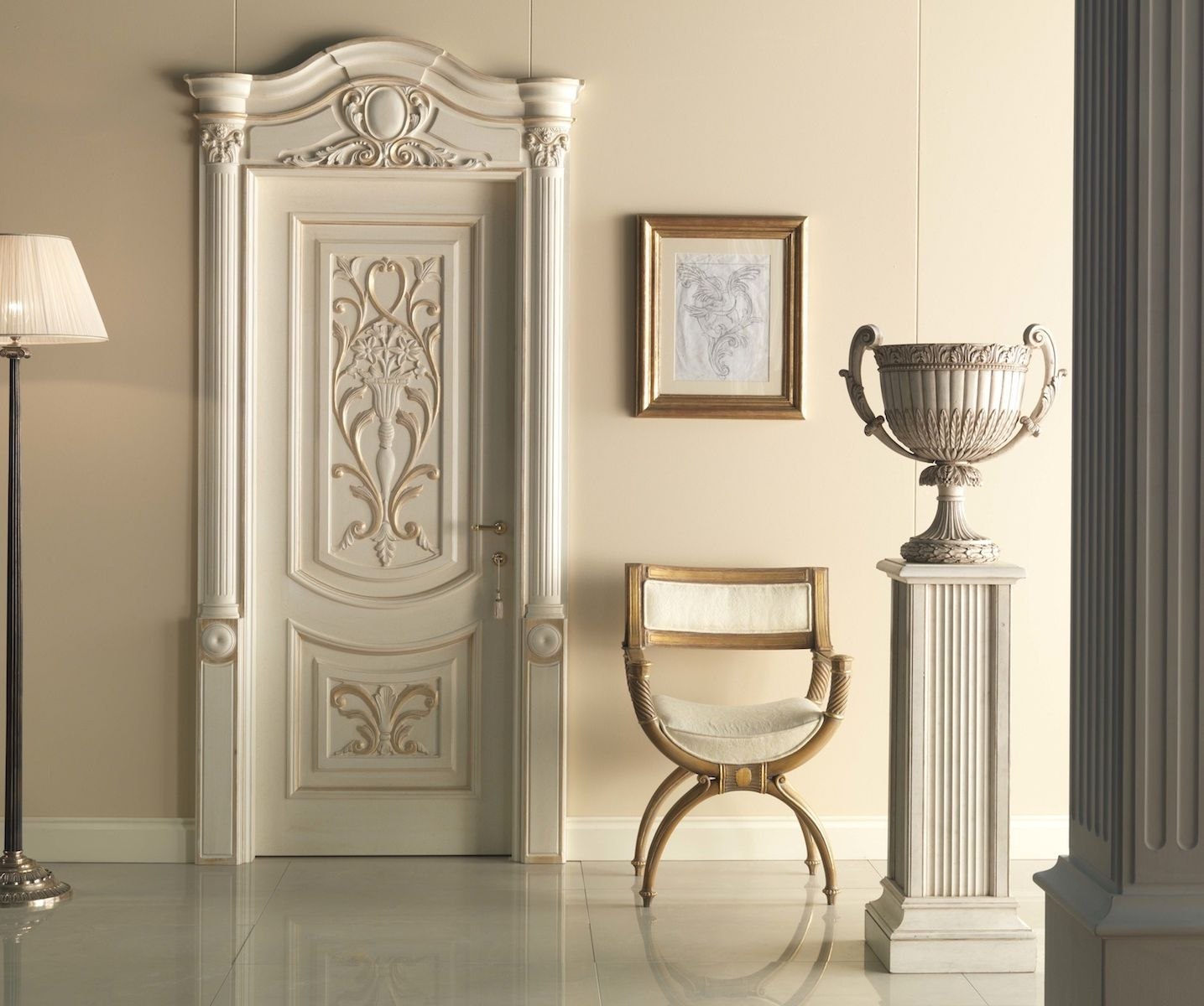 Baroque interior doors for Baroque glass door