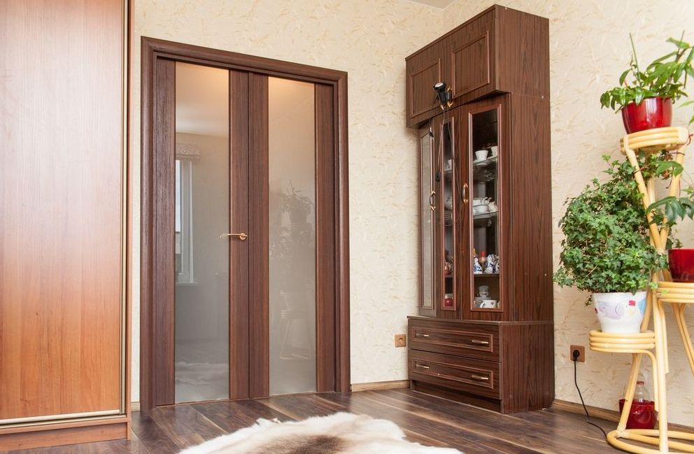 Color match interior doors to match the furniture