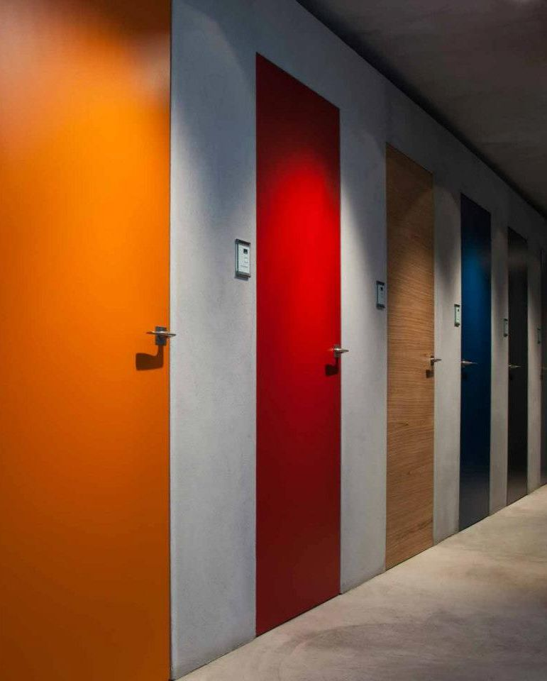 Different colors painting interior doors