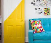 Door painted in yellow color