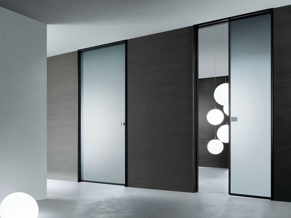 Doors and high tech interior design style