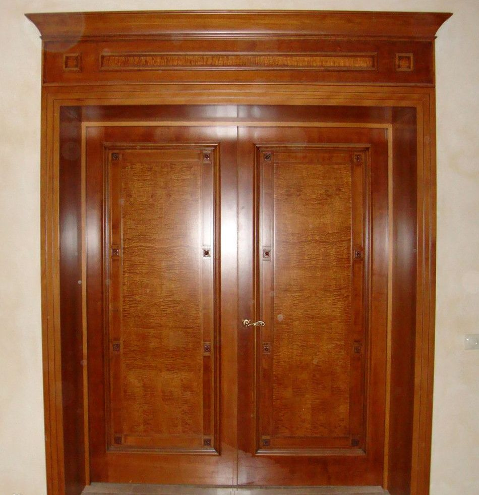 Double solid wood interior doors for Hardwood doors