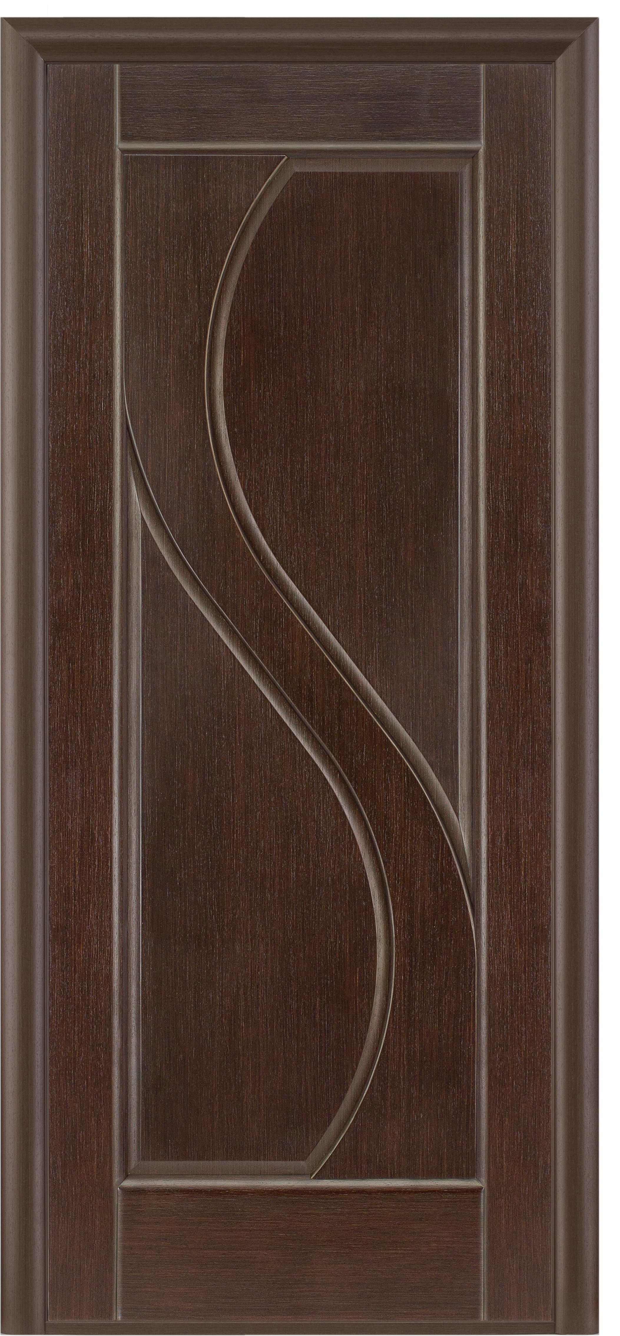 Massive dark wooden door in a modern style