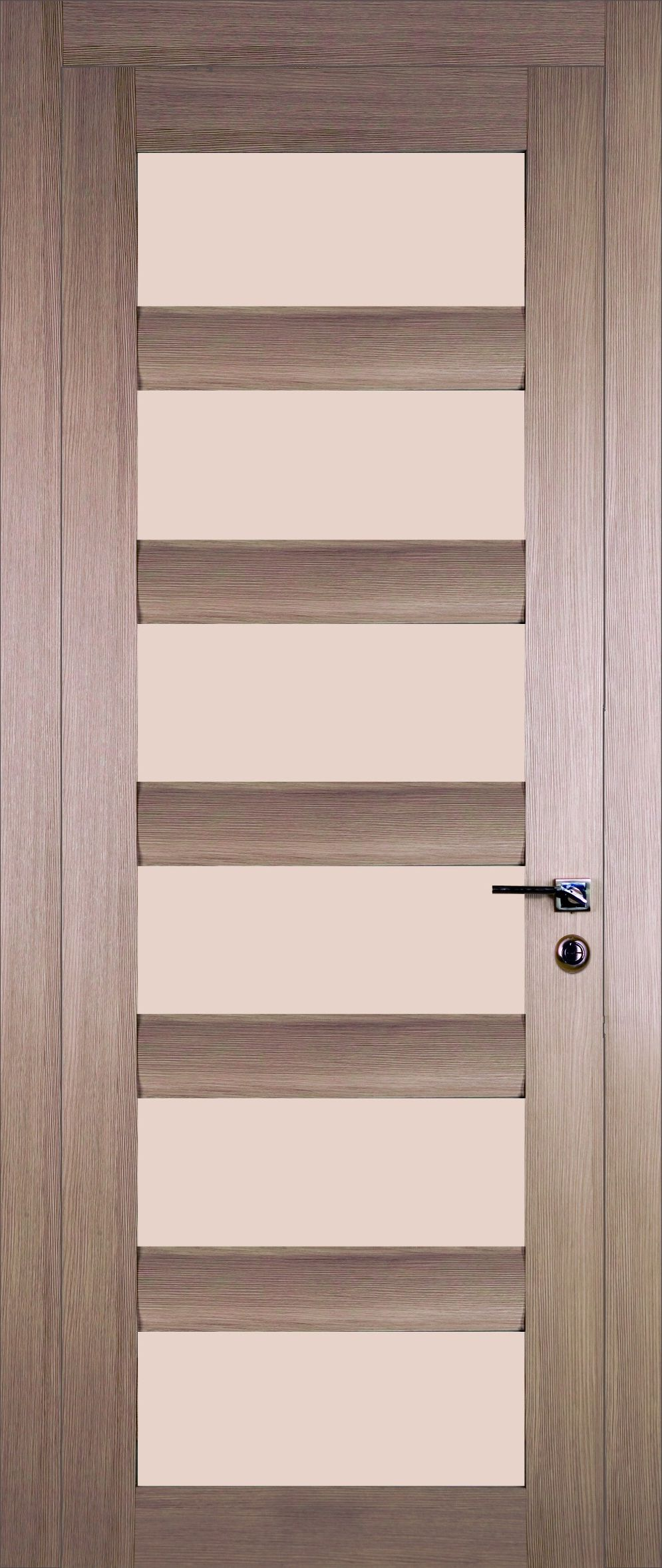 Modern wooden door in techno style