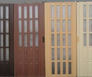 Plastic doors wood color