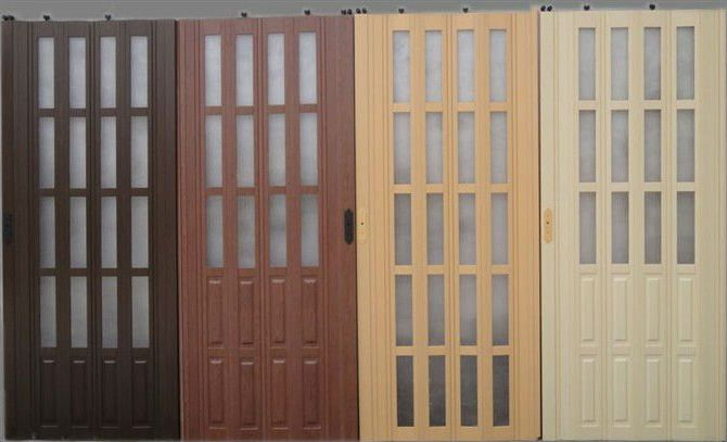 Plastic doors wood color