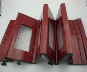 Plastic sliding folding PVC doors for bathroom and dining room