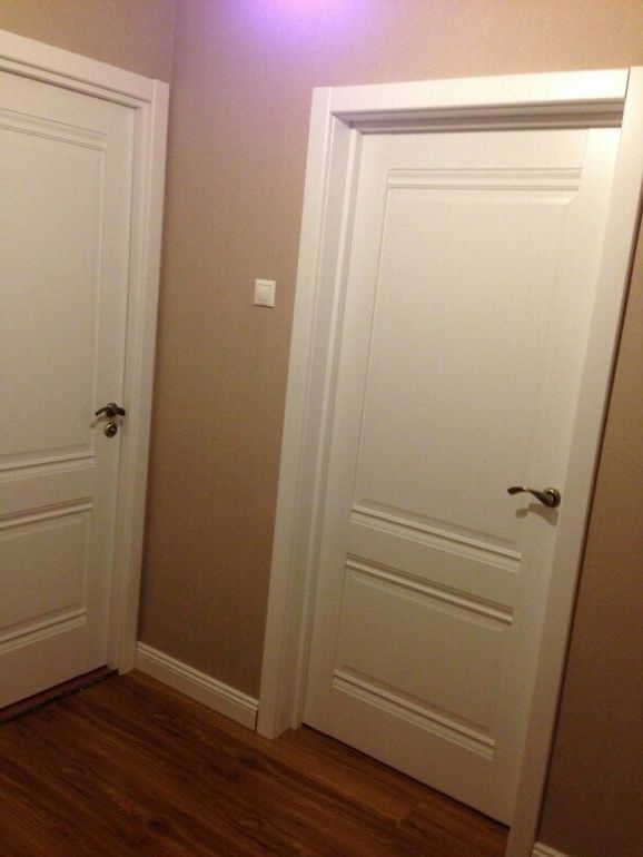 White interior doors in the hallway