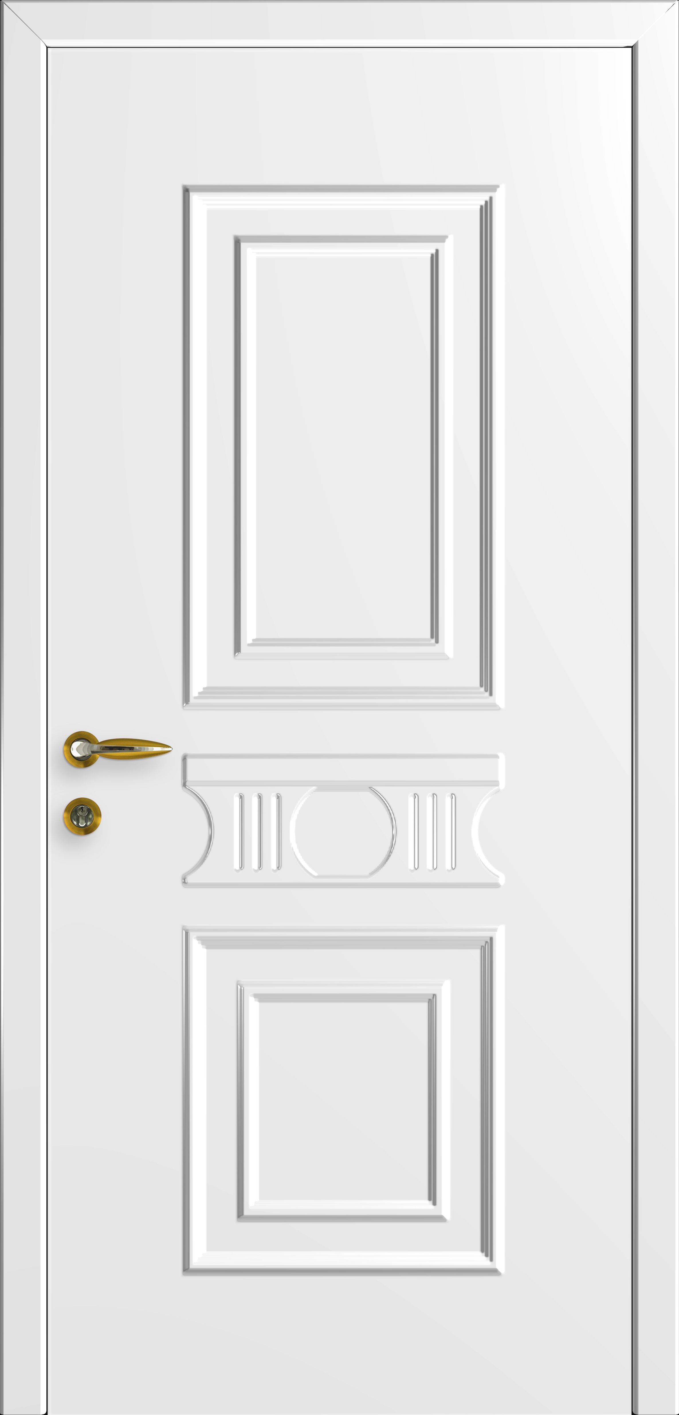 White plastic interior doors for home