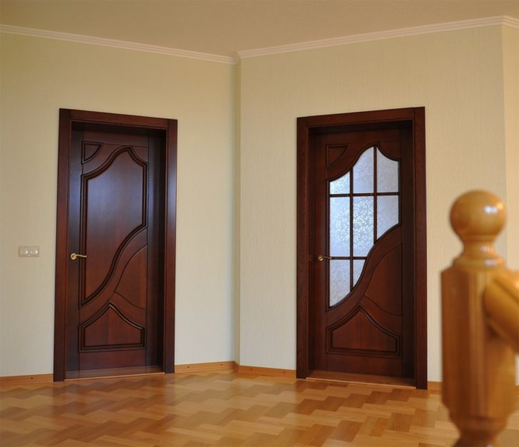 beautiful wooden interior doors in modern style