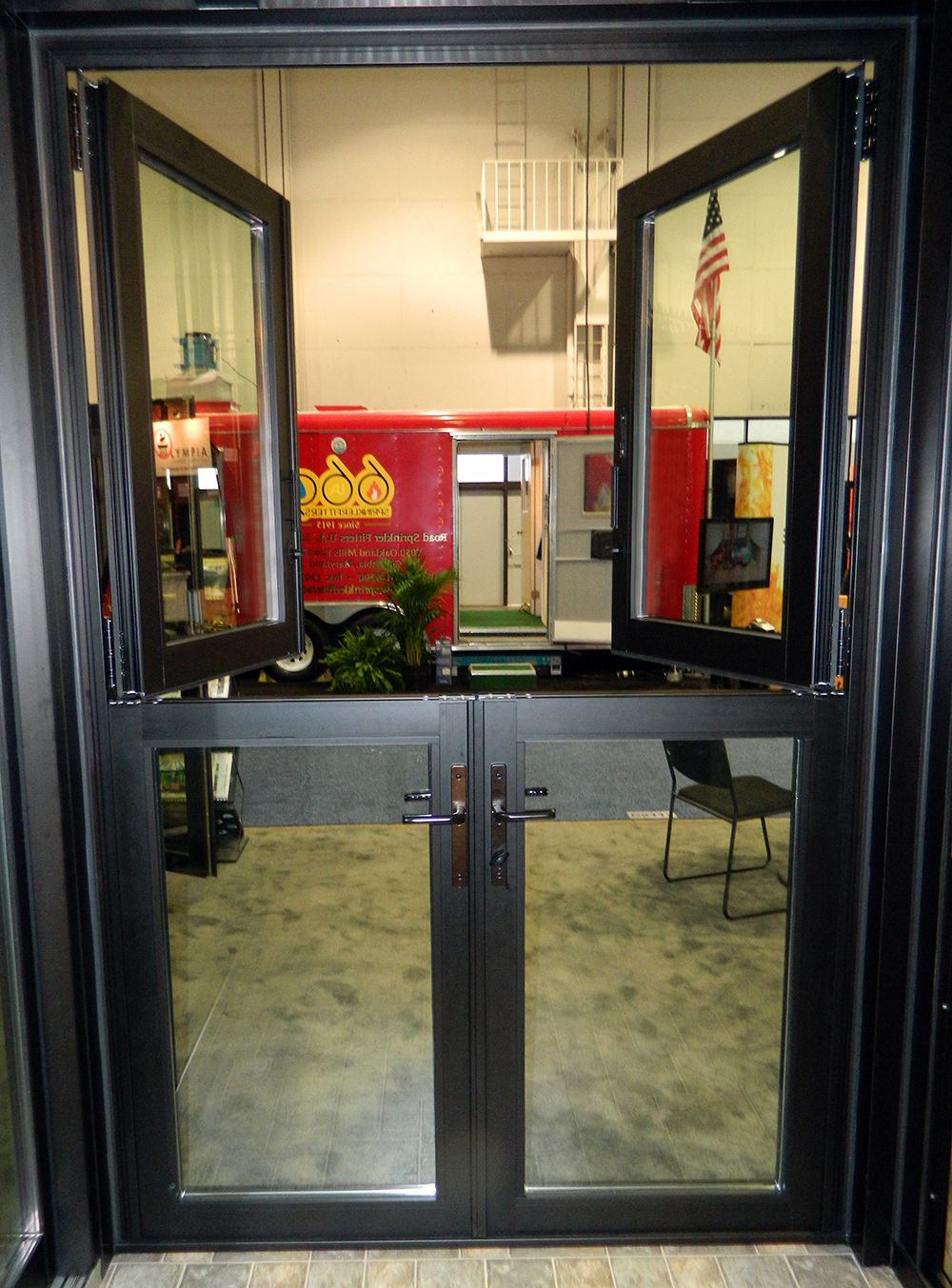 Black double Stable doors