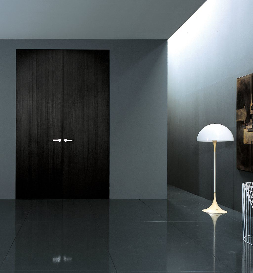 Black double swing doors