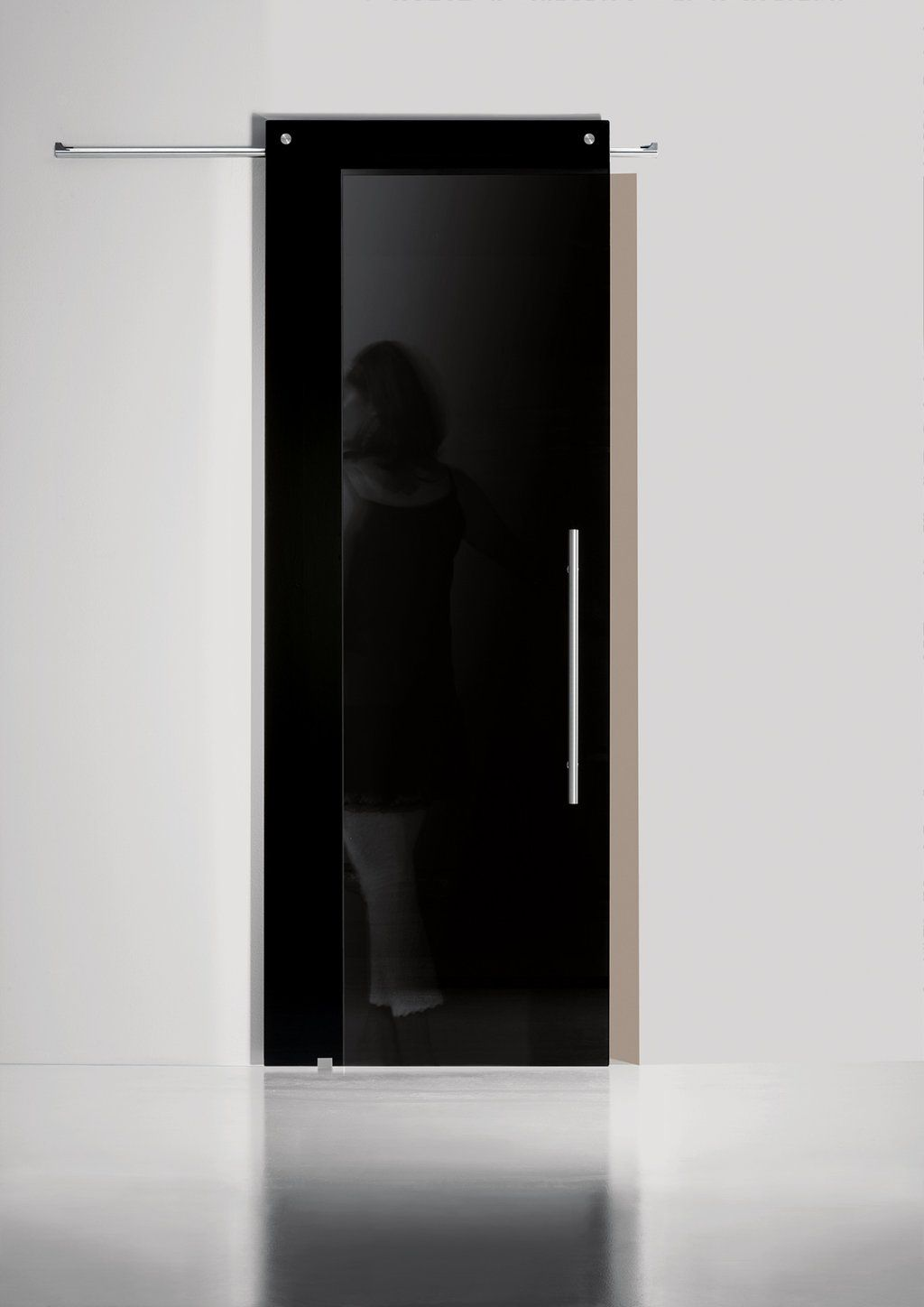 Black interior sliding closet doors