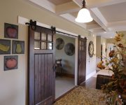 Dark wooden interior sliding doors
