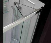 Folding glass doors for shower