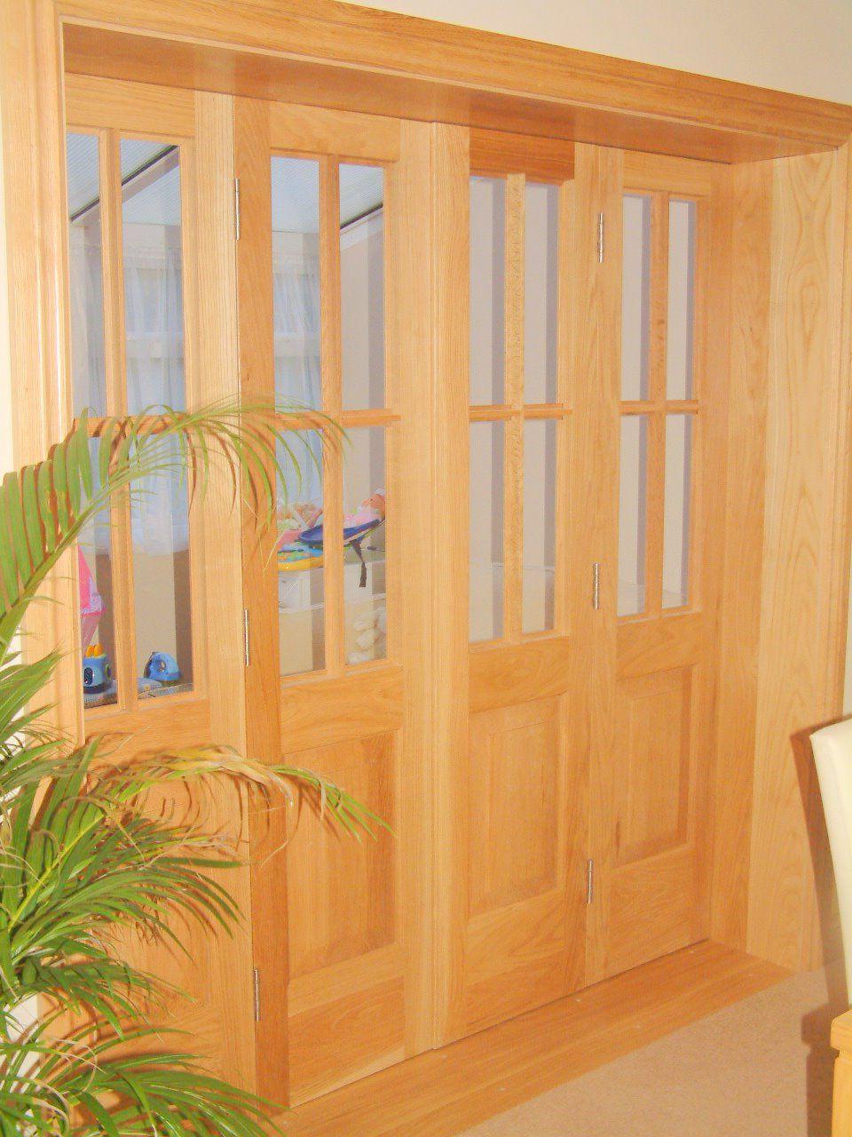 Folding interior door wood