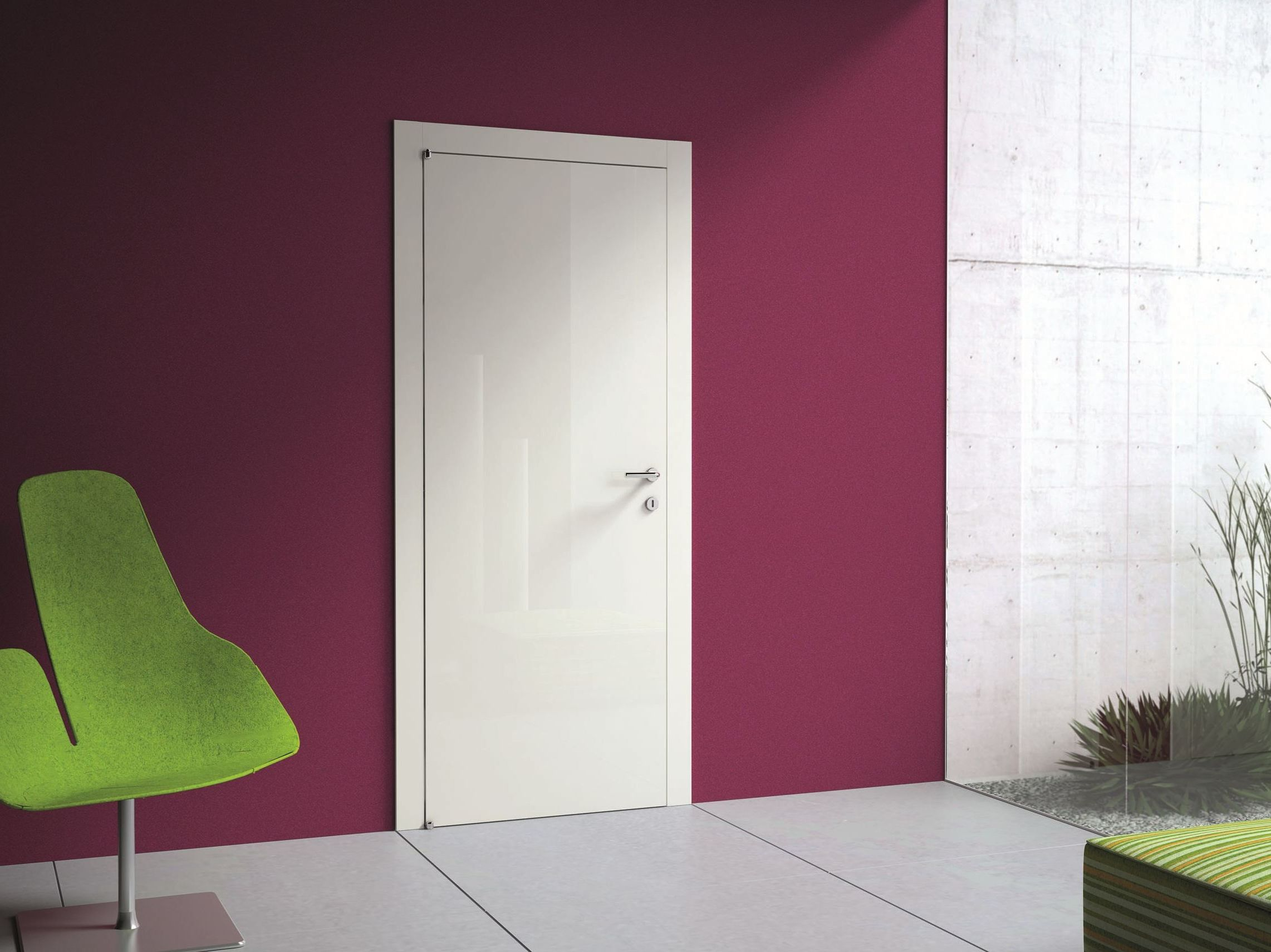 High tech interior door design style