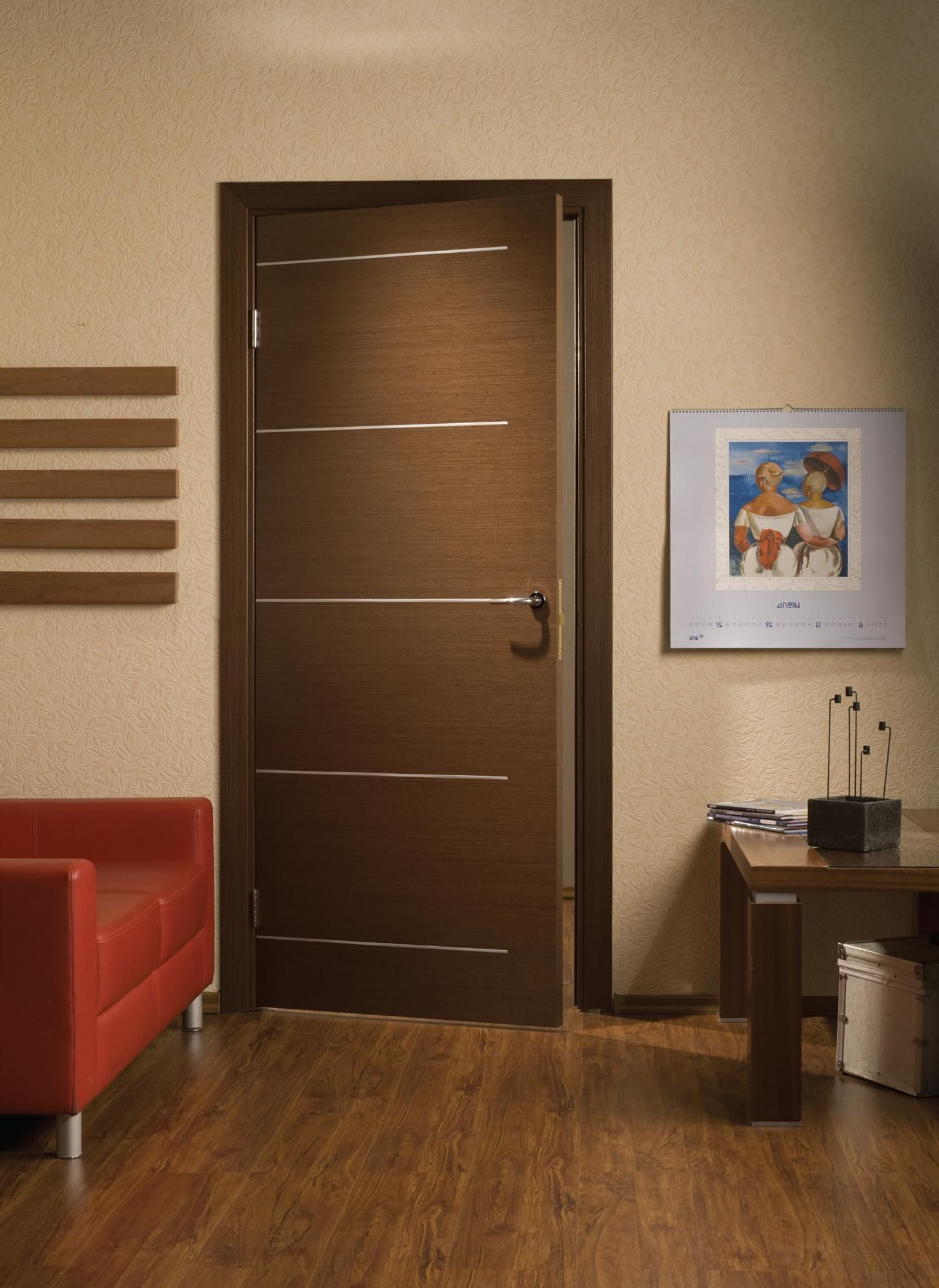 High-tech wooden interior door