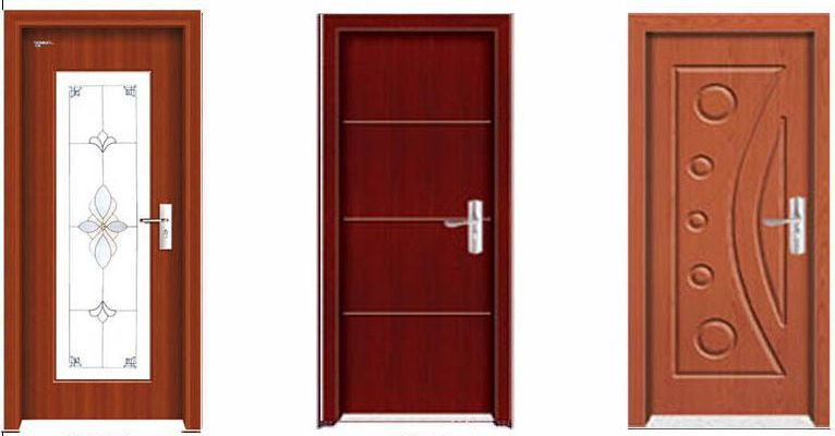 Interior pvc mdf wooden door for Interior door construction