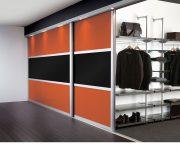 Large sliding door to wardrobe