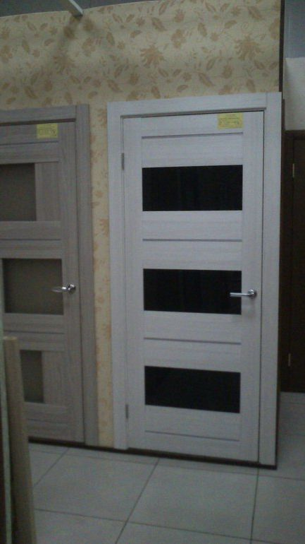 light and dark gray doors