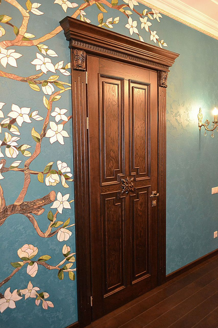 Luxury interior doors in classic antique Baroque style