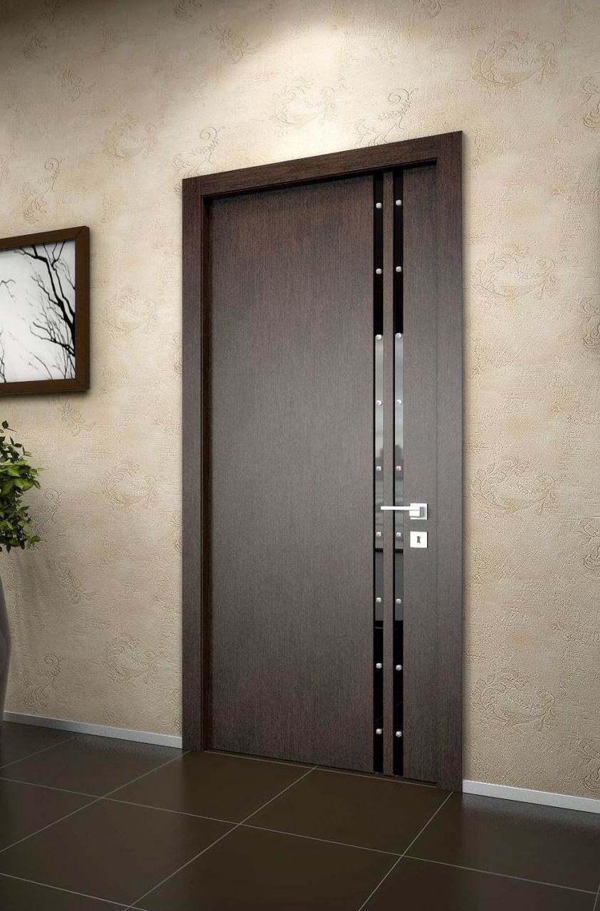 Modern dark interior door