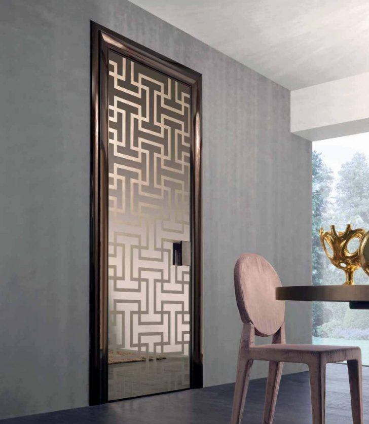 Interior doors styles matching of dominant designing Modern glass doors interior