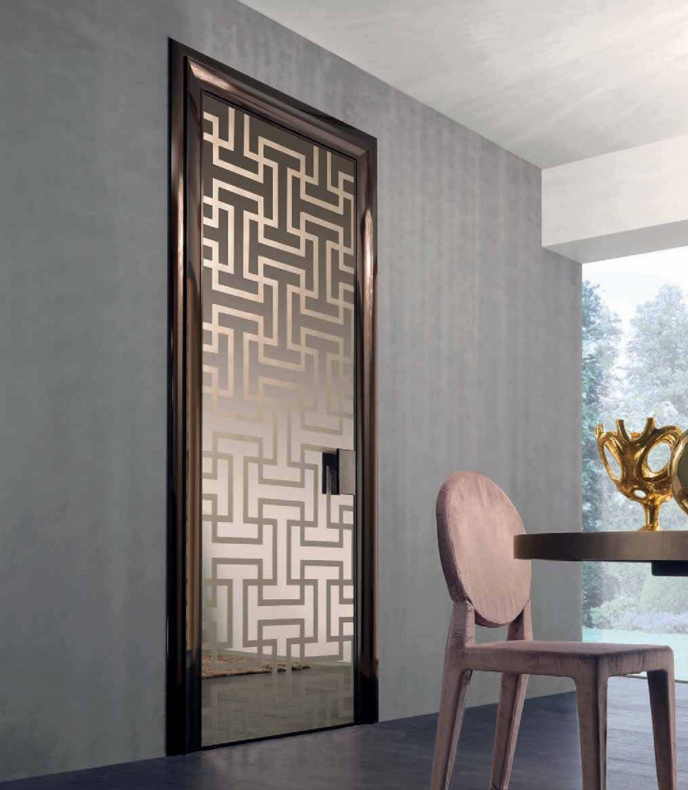Modern glass interior door for Modern glass designs