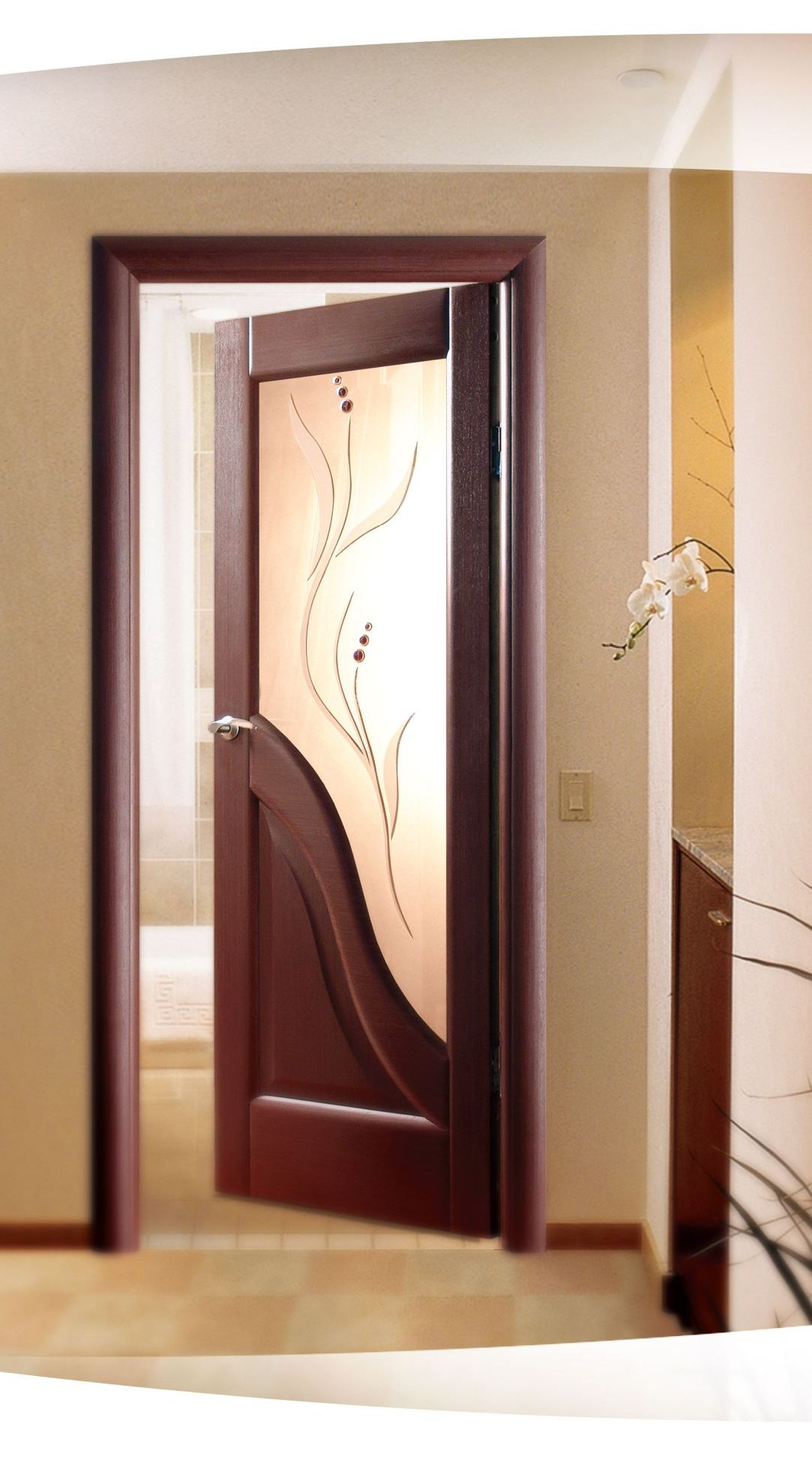 Modern wooden glass door the image kid for Wood and glass front entry doors