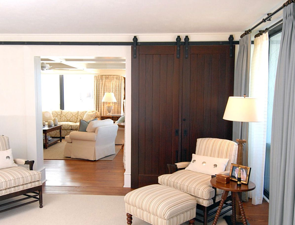 Modern wooden sliding interior door