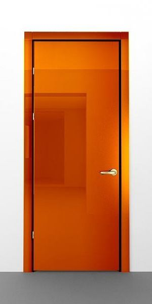 Orange interior door