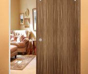 Rolling interior wooden door