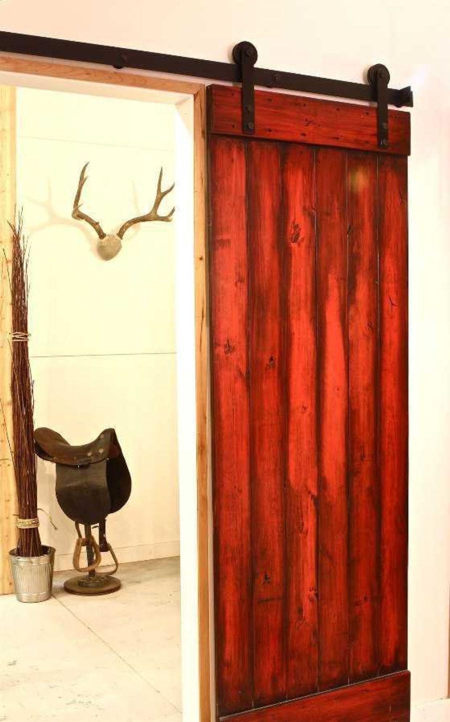 Rolling wooden door