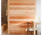 Rustic wooden sliding door