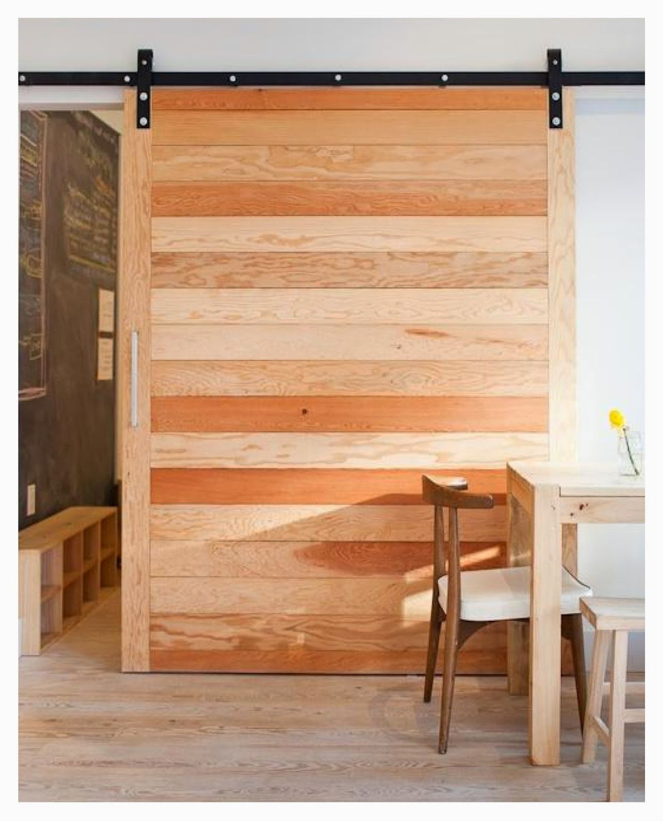 Rustic wooden sliding door