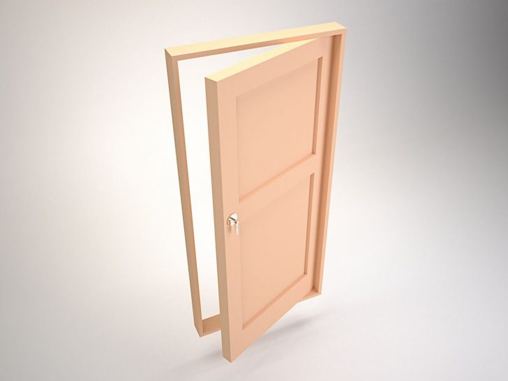 single-swing doors