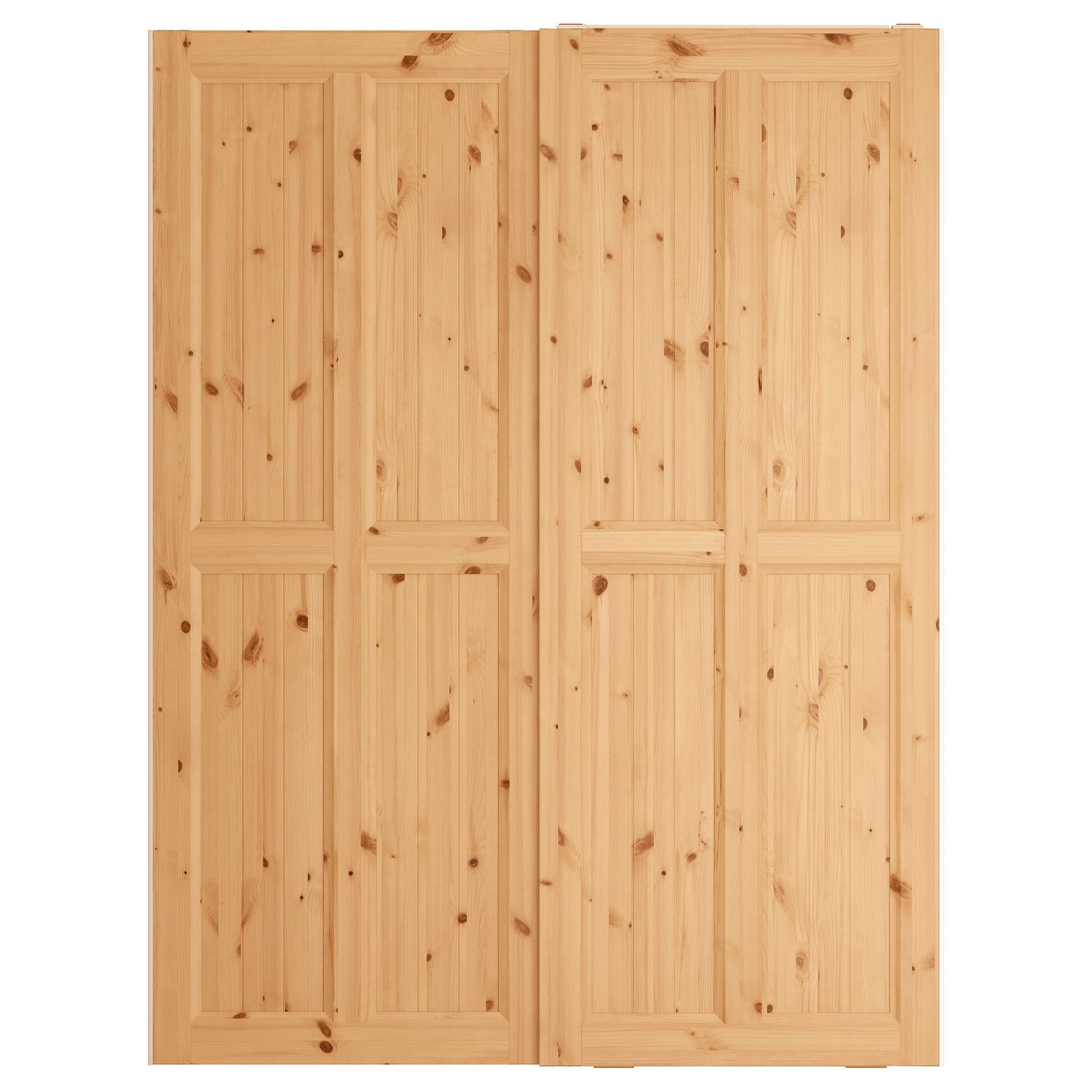 Sliding door with wooden leaf