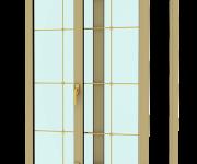 Sliding plastic door