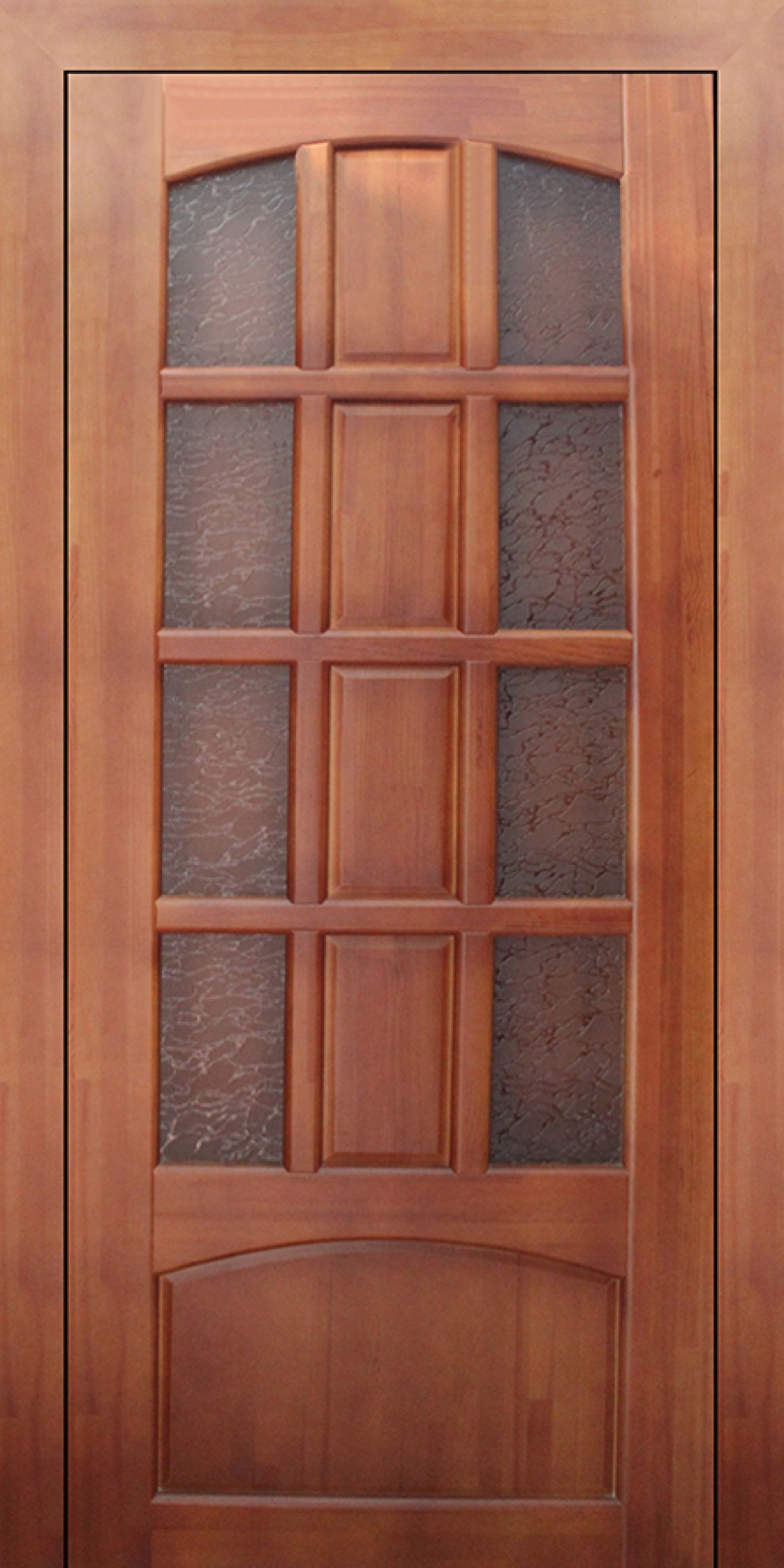 Large wooden pocket interior doors and blue walls in the room for Wood door with glass