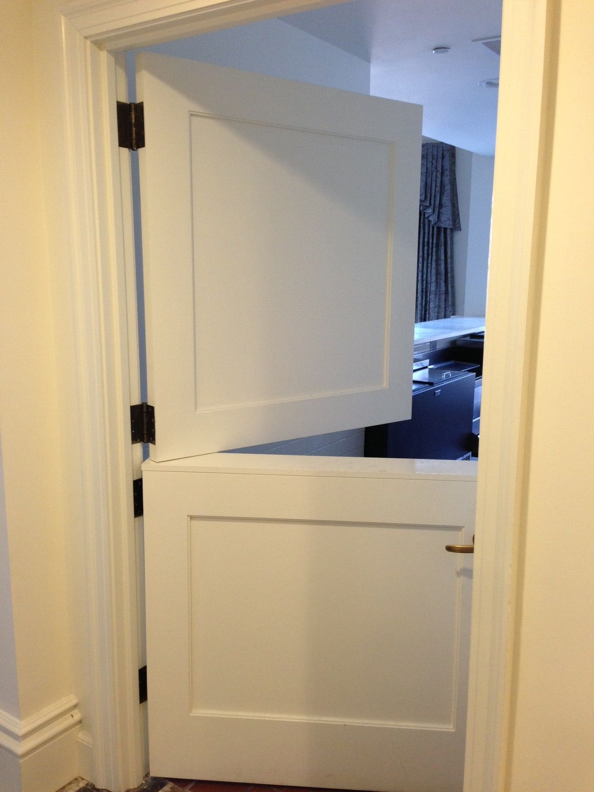 White internal stable doors