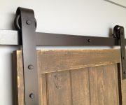 Wood rolling interior door