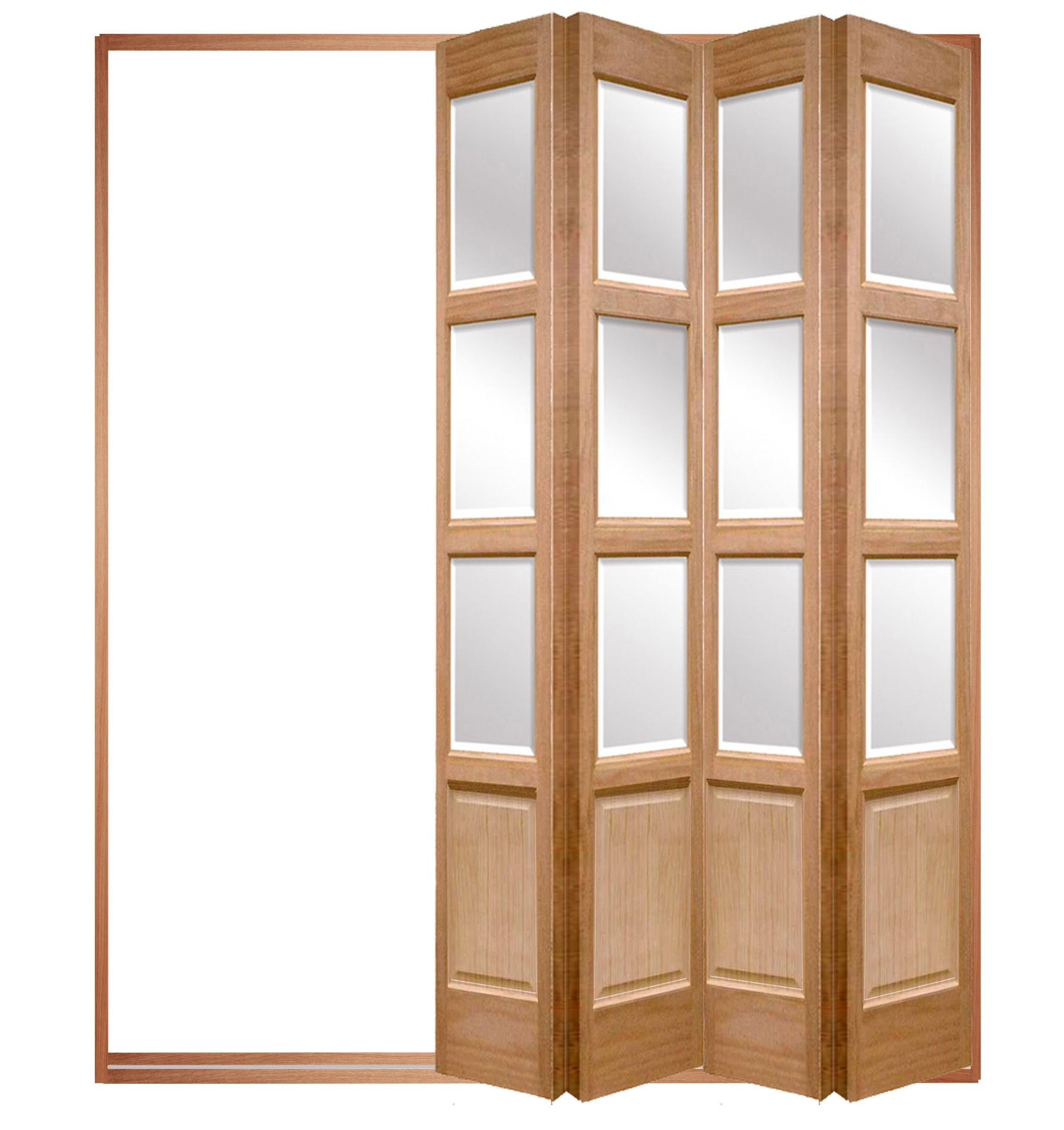 Wooden folding interior door