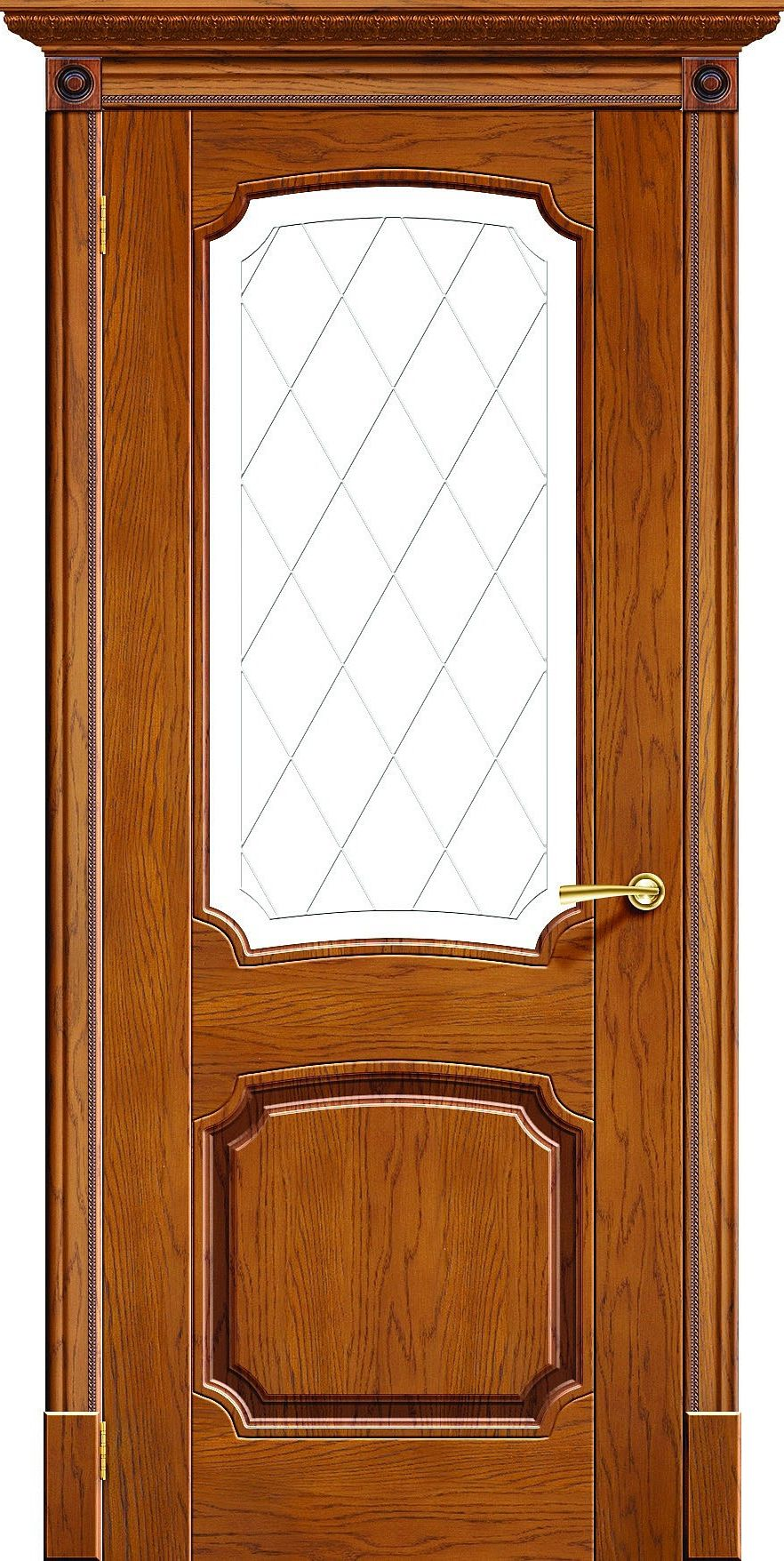 wooden interior door with glass