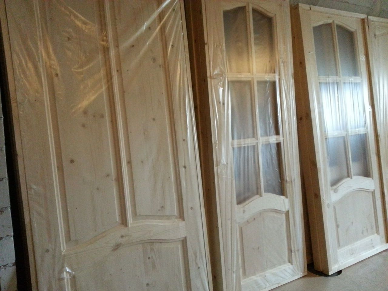 Wooden interior doors in stock