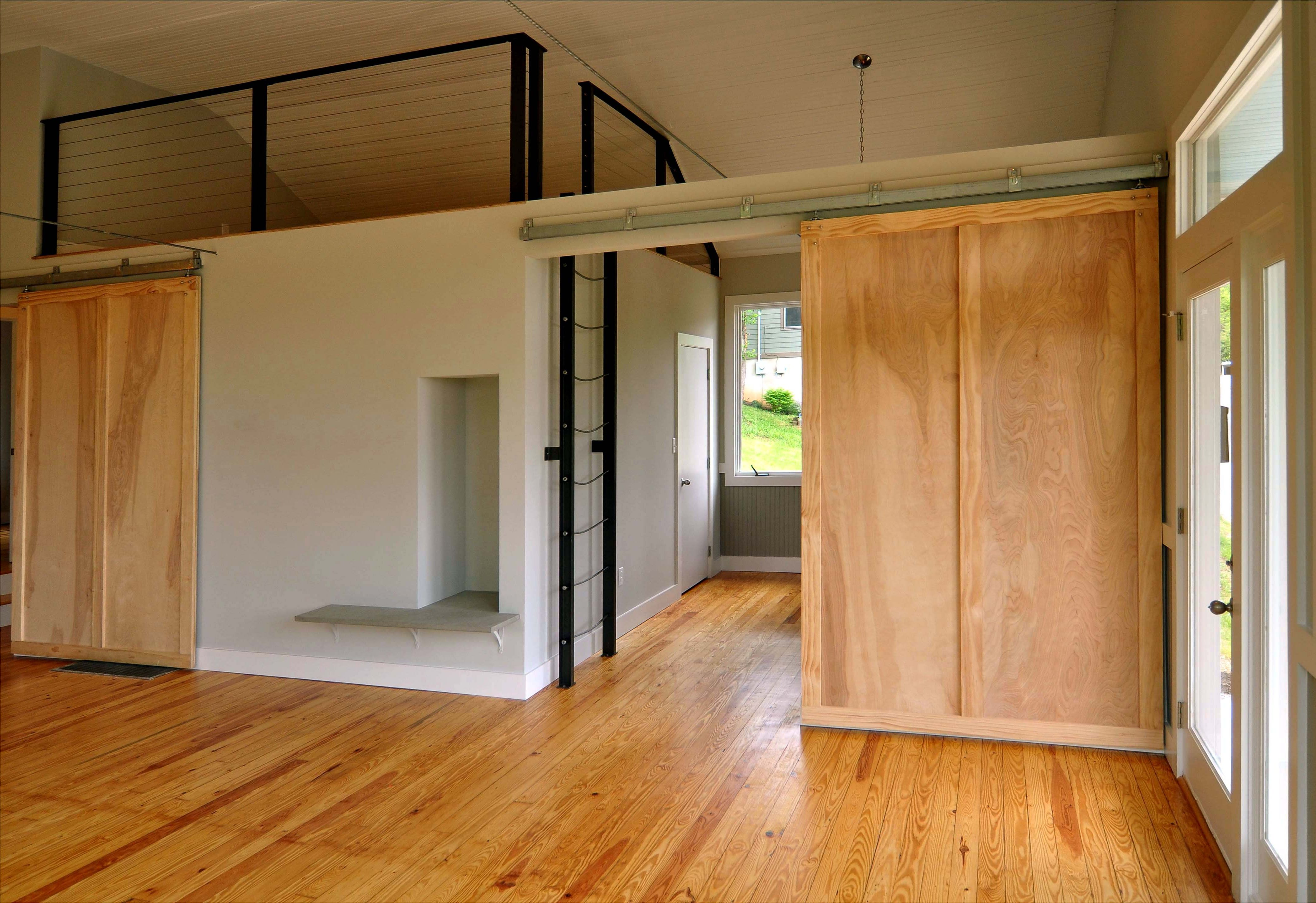 Wooden interior sliding doors