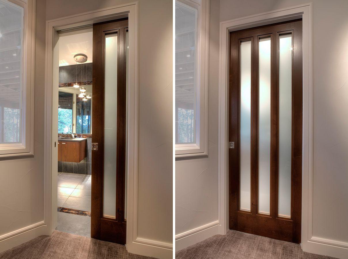 Wooden pocket interior doors